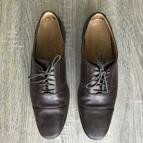 Cole Haan Men/'s Williams Cap-Toe Leather Lace-Up Oxfords Black